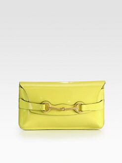 Gucci - Bright Bit Patent Leather Clutch