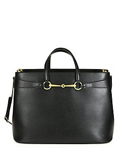 Gucci - Bright Bit Large Leather Tote
