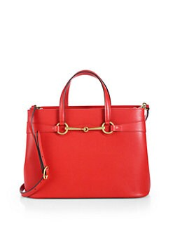 Gucci - Bright Bit Medium Leather Tote