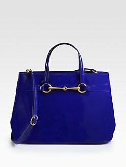 Gucci - Bright Bit Medium Patent Leather Tote