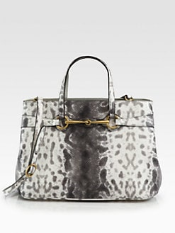 Gucci - Bright Bit Medium Printed Leather Tote