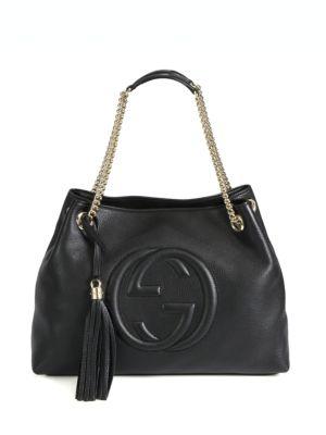 gucci female soho medium leather shoulder bag