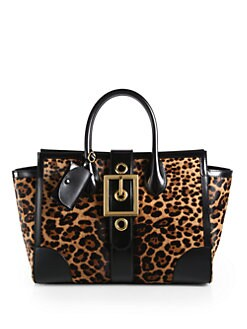 Gucci - Lady Buckle Jaguar Print Top Handle Bag