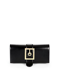 Gucci - Lady Buckle Leather Clutch