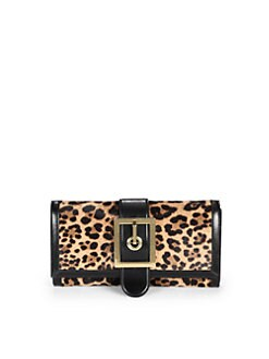 Gucci - Lady Buckle Jaguar Print Clutch