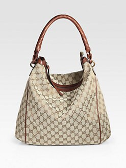 Gucci - Interweave Original GG Canvas Hobo