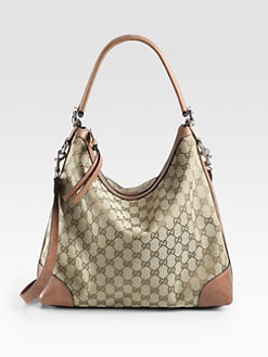 Gucci - Miss GG Original GG Canvas Hobo