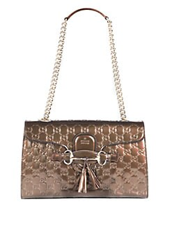 Gucci - Emily Shine Guccissima Leather Chain Shoulder Bag