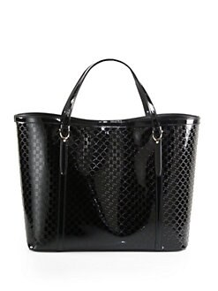 Gucci - Gucci Nice Microguccissima Patent Leather Tote