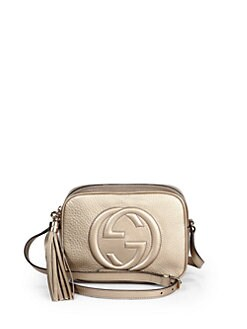 Gucci - Soho Metallic Leather Disco Bag