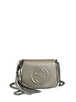 Gucci - Soho Metallic Leather Chain Shoulder Bag
