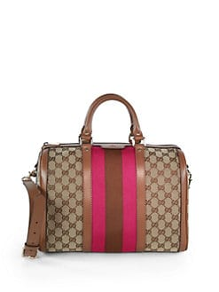 Gucci - Vintage Web Original GG Canvas Boston Bag