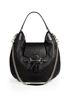 Gucci - Emily Guccissima Leather Hobo