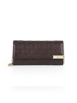 Gucci - Dice Guccissima Leather Chain Wallet