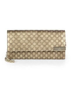 Gucci - Dice Metallic Microguccissima Leather Chain Wallet