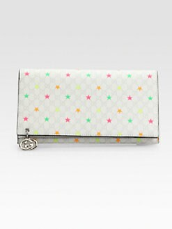 Gucci - GG Pierce Micro GG Supreme Stars Canvas Continental Wallet
