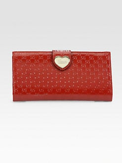 Gucci - Heart Microguccissima Patent Leather Continental Wallet