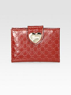 Gucci - Heart Microguccissima Patent Leather Travel Case
