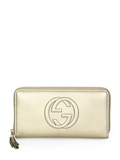 Gucci - Soho Metallic Leather Zip Around Wallet