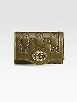 Gucci - Sukey Metallic Guccissima Leather Card Case