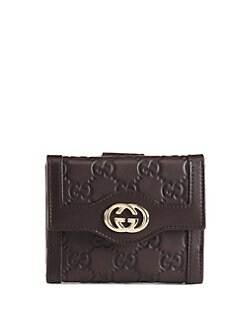 Gucci - Sukey Guccissima French Flap Wallet