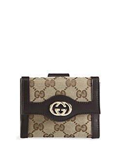 Gucci - Sukey Original GG Canvas French Flap Wallet