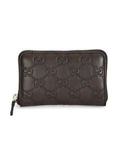 Gucci - Guccissima Leather Zip Around Card Case