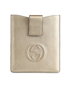 Gucci - Soho Metallic Leather Case for iPad