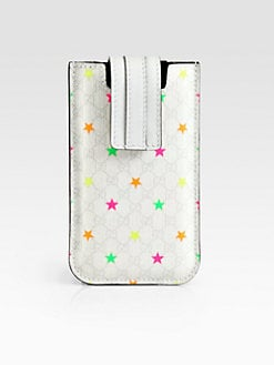 Gucci - GG Supreme Canvas Stars Case For iPhone 5