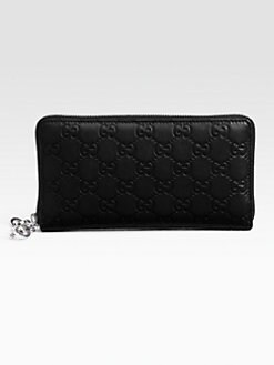 Gucci - GG Twins Leather Zip Around Wallet