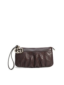 Gucci - New Britt Leather Wristlet