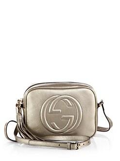 gucci bags at saks. gucci soho metallic leather disco bag bags at saks e