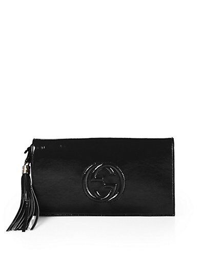 Soho Patent Leather Clutch
