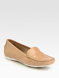 Stuart Weitzman - Mach1 Patent Leather Moccasins