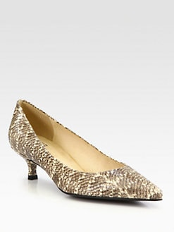 Stuart Weitzman - Poco Snakeskin Pumps