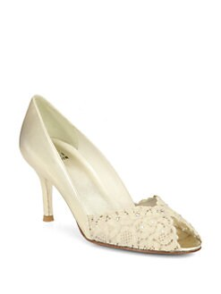 Stuart Weitzman - Chantelle Lace Pumps