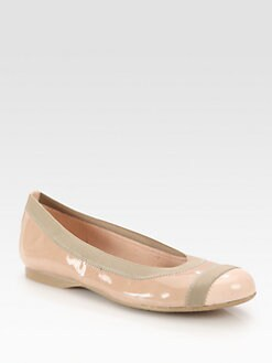 Stuart Weitzman - Tipable Patent Leather Ballet Flats