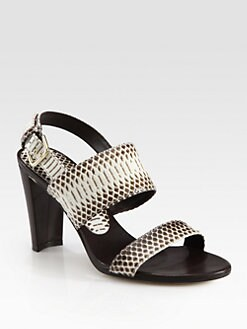Stuart Weitzman - Bander Snakeskin & Leather Sandals