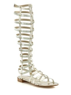 Stuart Weitzman - Tall Gladiator Studded Leather Sandals