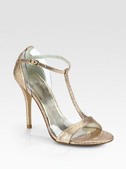Stuart Weitzman - Sincity Glitter T-Strap Sandals
