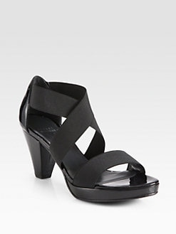 Stuart Weitzman - Overreach Elastic & Patent Leather Sandals