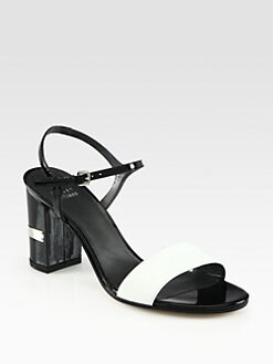 Stuart Weitzman - Solo Bicolor Patent Leather Sandals