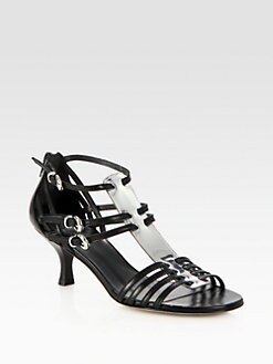 Stuart Weitzman - Hurrachtee Leather & Metallic Leather Sandals