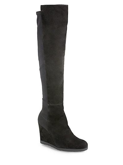 Demiswoon Over-The-Knee Wedge Boots