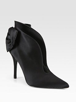 Stuart Weitzman - Plunge Satin Ankle Boot