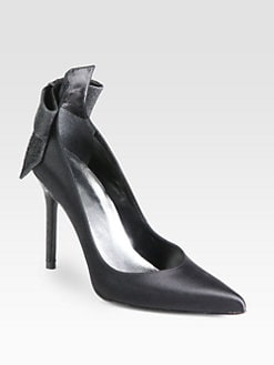 Stuart Weitzman - First Prize Satin Bow Pumps