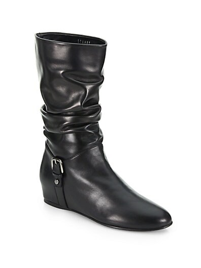 Rugerio Leather Mid-Calf Boots