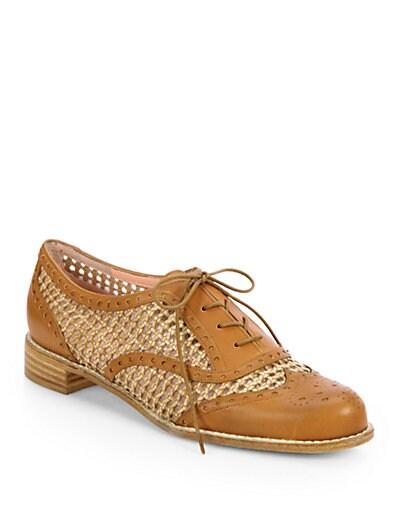 Manoweave Lace-Up Oxford Shoes
