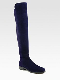 Stuart Weitzman - 50/50 Bicolor Suede Knee-High Boots