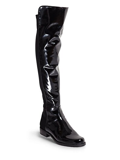 5050 Stretch Patent Leather Over-The-Knee Boots